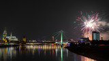 Firework over the rhine river - 217538768