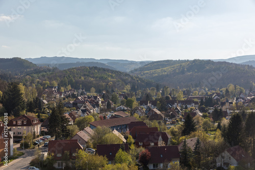 Canvas Landschappen Stadtbild von Wernigerode im Harz Gebirge