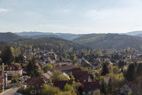 Fotobehang Landschappen Stadtbild von Wernigerode im Harz Gebirge