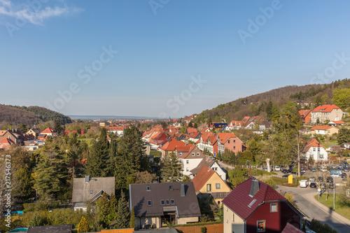 Häuser in Stadt Wenigerode in Deutschland