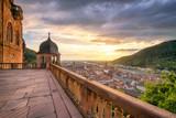 Romantischer Sonnenuntergang über Heidelberg
