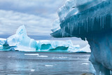 global warming and climate change concept, iceberg melting in Antarctica - 217568703