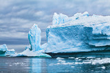iceberg landscape nature of Antarctica, climate change concept background, melting ice due to global warming - 217568727
