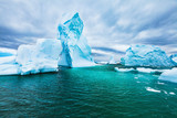 Antarctica beautiful cold landscape with icebergs, epic scenery, antarctic winter nature beauty - 217568738