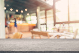 Coffee shop blur background with bokeh image . - 217569342