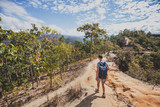 hiking in Pai canyon, tourism in Thailand - 217569392