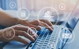 fingerprint authorization access concept, personal data information security - 217569567