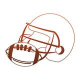 American football helmet and ball vector illustration graphic design - 217570373