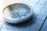 Vintage compass in business concept - strategy - 217571356