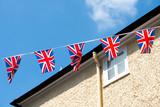 British & English national flag at the restaurant and pub, London - 217572382