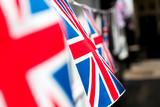 British & English national flag at the restaurant and pub, London - 217572562