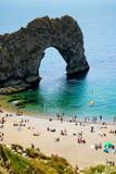 Durdle Door, Dorset in UK, Jurassic Coast World Heritage Site - 217572586