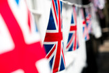 British & English national flag at the restaurant and pub, London - 217572748
