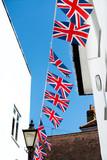 British & English national flag at the restaurant and pub, London - 217572939