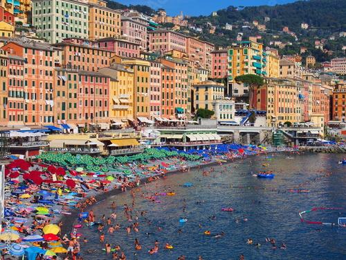 In de dag Liguria camogli, dans la lugurie italienne
