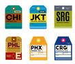chicago jakarta semarang philadelphia phoenix jacksonville baggage tag