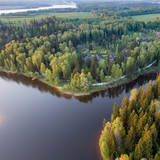 Lake and forest from aboe - 217591579