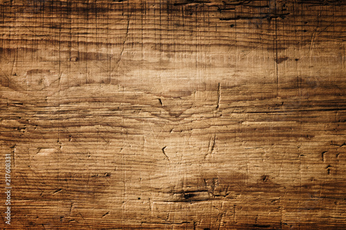 canvas print picture Dark Brown Wood Texture with Scratches