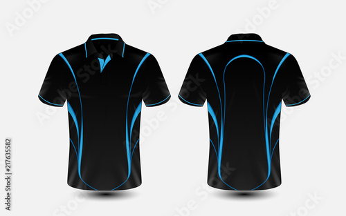 72b7c1e19 Blue and black layout e-sport t-shirt design template | Buy Photos ...