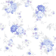 Seamless cute vintage pattern in shabby chic style  © Maria
