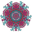 Vector round abstract circle. Mandala style. Decorative element, colored circular design element. - 217642975