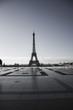Eiffel Tower, Paris. View over the Tour Eiffel from Trocadero square, Paris, France