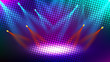 Abstract colorful stage light creative background design. Vector illustration. - 217651723