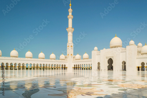Foto Murales Sheikh Zayed Mosque in Abu Dhabi, UAE