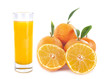 Quadro orange juice and fruits