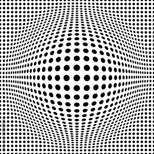 Fototapeta seamless background with optical illusion of a ball