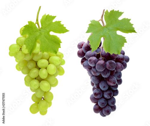Leinwanddruck Bild Rote und Weiße Trauben