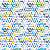 Seamless pattern with abstract geometric triangles. Watercolor spots, shapes, beautiful paint stains like cosmic nebula. Background for parties, holidays, birthdays. - 217676772