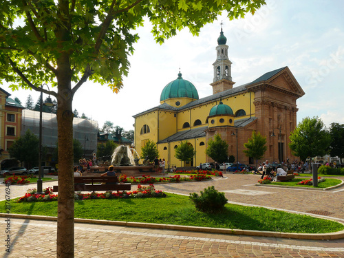 Saint Matteo Apostolo and Evangelista Church main square Asiago Italy