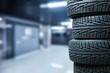 Leinwanddruck Bild - Tires objects on background
