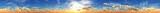 Over the clouds, a panorama of the sunset in the clouds, 3D rendering