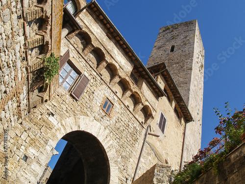 Fotobehang Toscane the tower of san gimignano, tuscany, italy