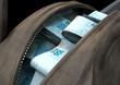 Quadro Illicit Cash In A Brown Duffel Bag
