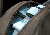 Illicit Cash In A Brown Duffel Bag - 217703958