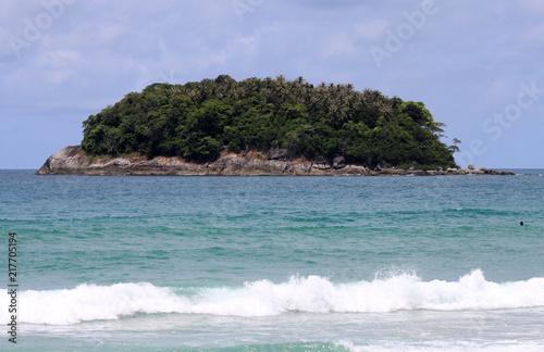 In de dag Tropical strand Tropical island. Indian Ocean, Andaman Sea. Thailand.