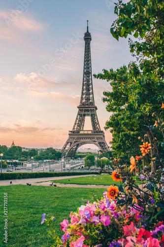 Aluminium Eiffeltoren lever de soleil paris tour eiffel