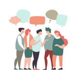 Concept of teamwork, social networks, global communication - 217711532