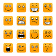 cartoon emoticons or facial emotions set