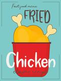 Fried chicken legs - 217713904