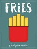 French fry stick potato - 217713924