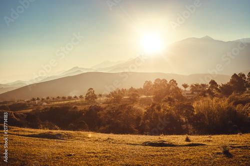 Aluminium Beige sunshine landscape