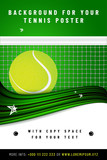 Tennis background template with sample text in separate layer