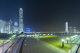 Modern office buildings in Hong Kong city at night - 217722576