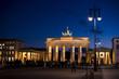 Brandenburgertor bei Nacht, Berlin