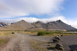 Beautiful view of the mountains in the sunshine in Iceland - 217734335