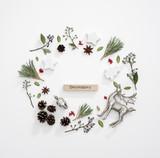 Winter holidays card mock-up